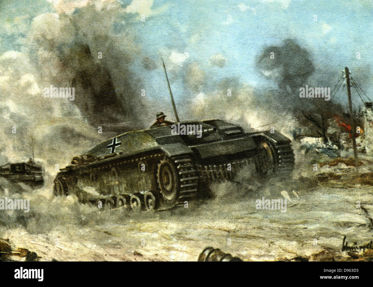 World War 2: German tank 1942-1943. - Stock Image