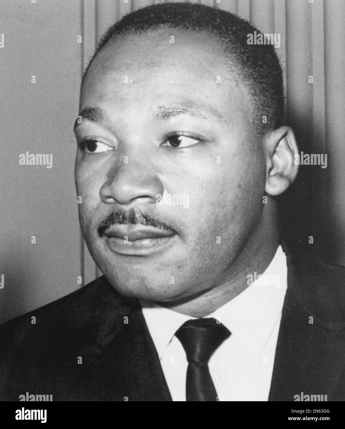 Martin Luther King  Jnr (1929-68). American black civil rights campaigner. Assassinated, supposedly  by James Earl - Stock Image