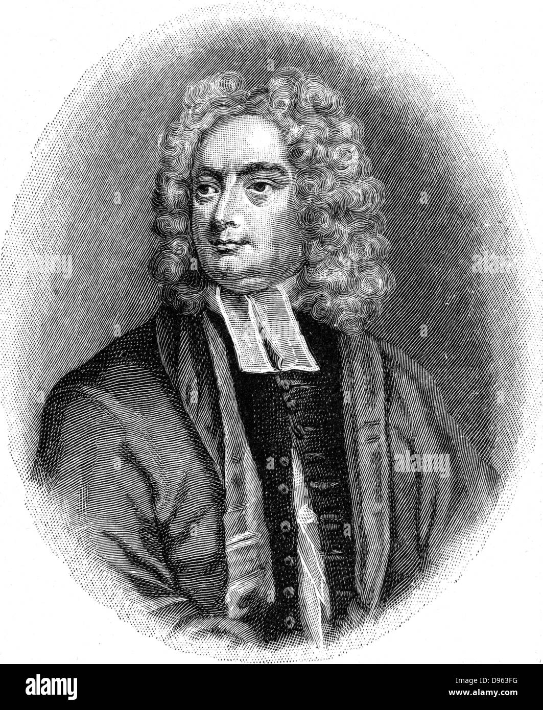 Jonathan Swift (1667-1745) Anglo-Irish satirist, poet and cleric. Engraving. - Stock Image
