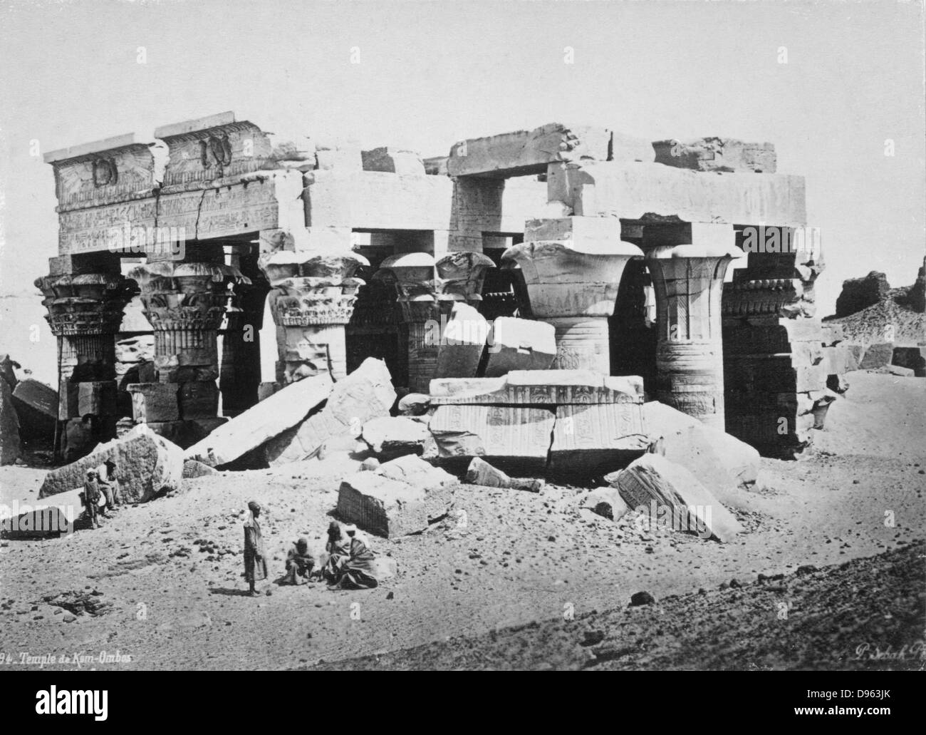 Hellenistic temple at Kom Ombo, Egypt - Stock Image
