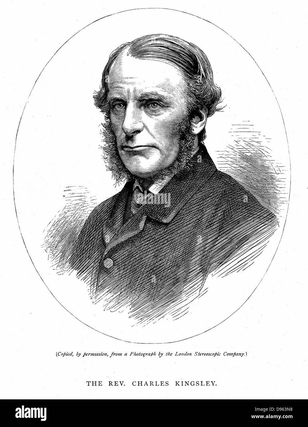 Charles Kingsley (1819-1875) British writer and cleric. Christian Socialist: Muscular Christianity. Believed in - Stock Image