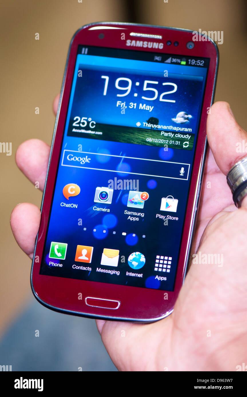 Samsung s3 smartphone - Stock Image