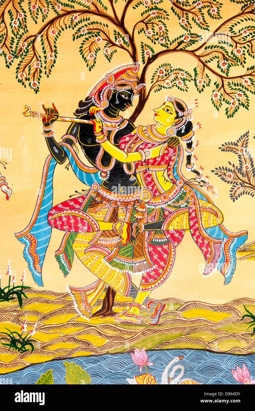 Painting Of Radha Krishna Stock Photos & Painting Of Radha Krishna ...