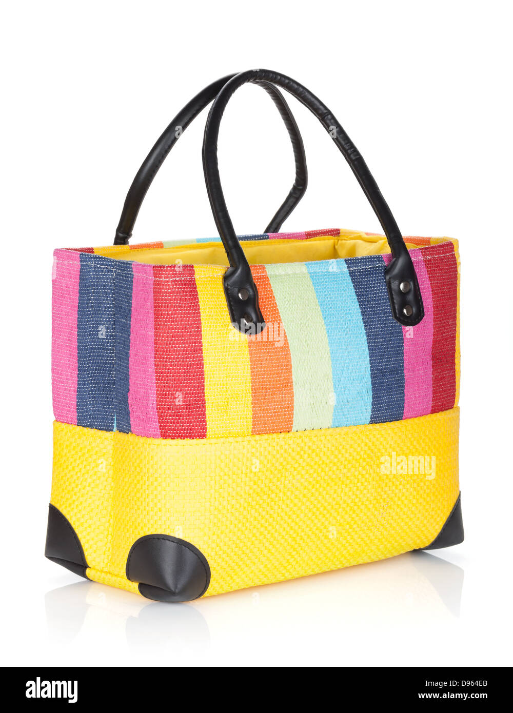 a17dd95bd3215 Colorful beach bag. Isolated on white background