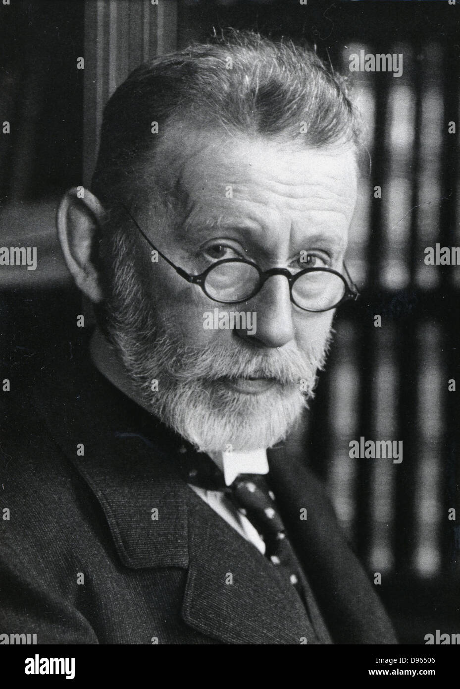 Paul Ehrlich  (1854-1915) German bacteriologist. Haematology: Chemotherapy: Immunology. Shared Nobel prize for medicine - Stock Image