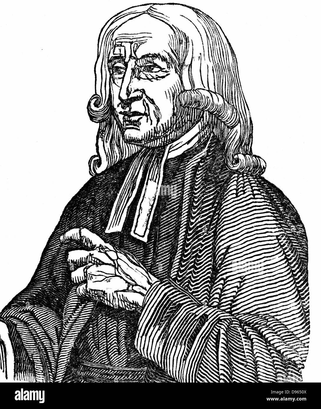 John Wesley (1703-1791) English non-conformist preacher. Founder of  Methodism. Woodcut 1832. - Stock Image