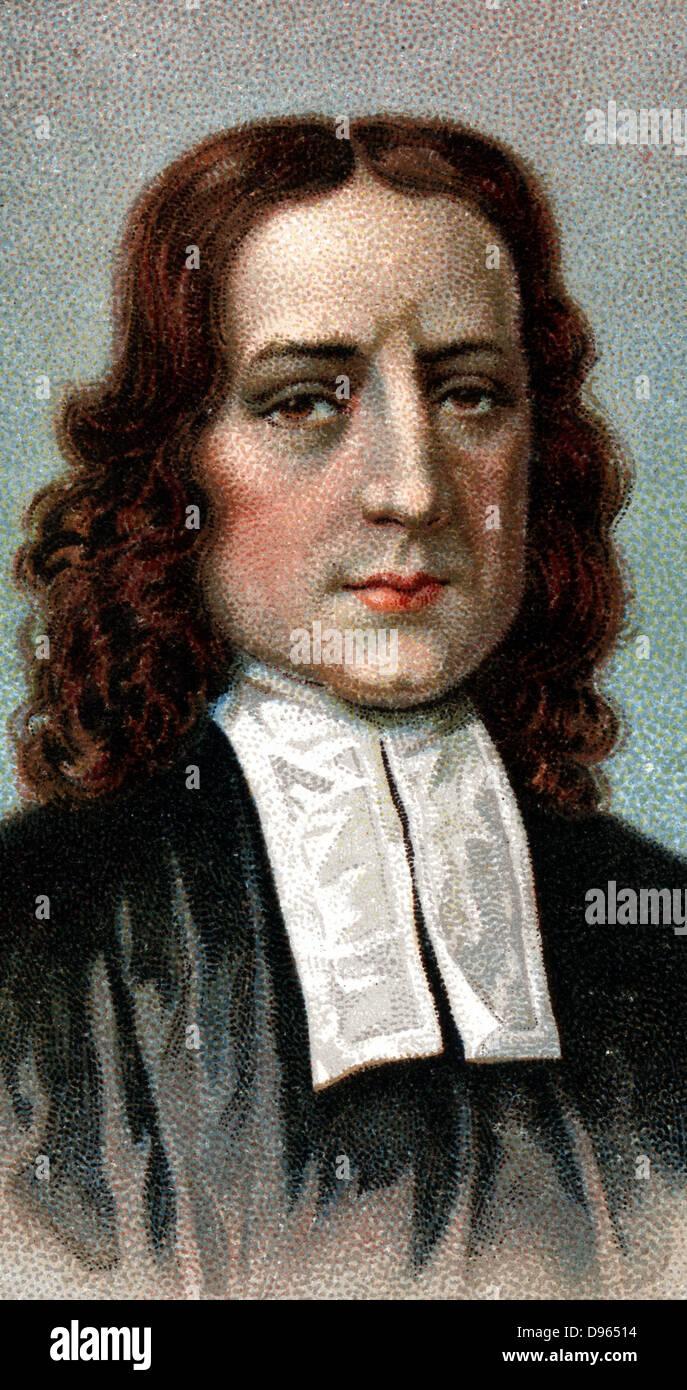 John Wesley (1703-1791) English non-conformist preacher. Founder of  Methodism. Chromolithograph 1924. - Stock Image