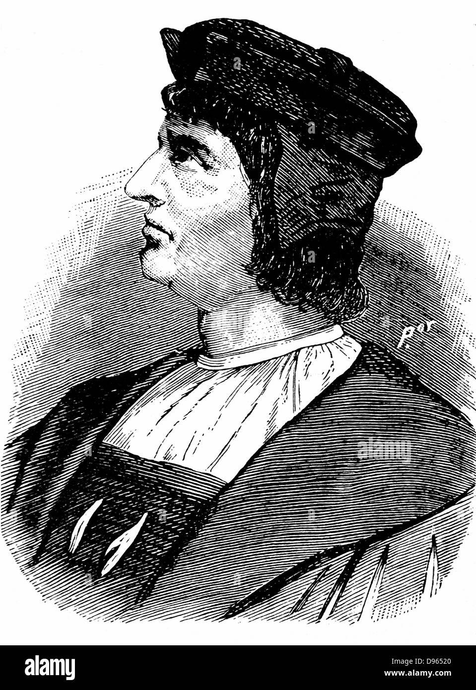 Bartholemew Diaz (Dias c1455-1500). Portugese navigator. 19th century wood engraving. - Stock Image