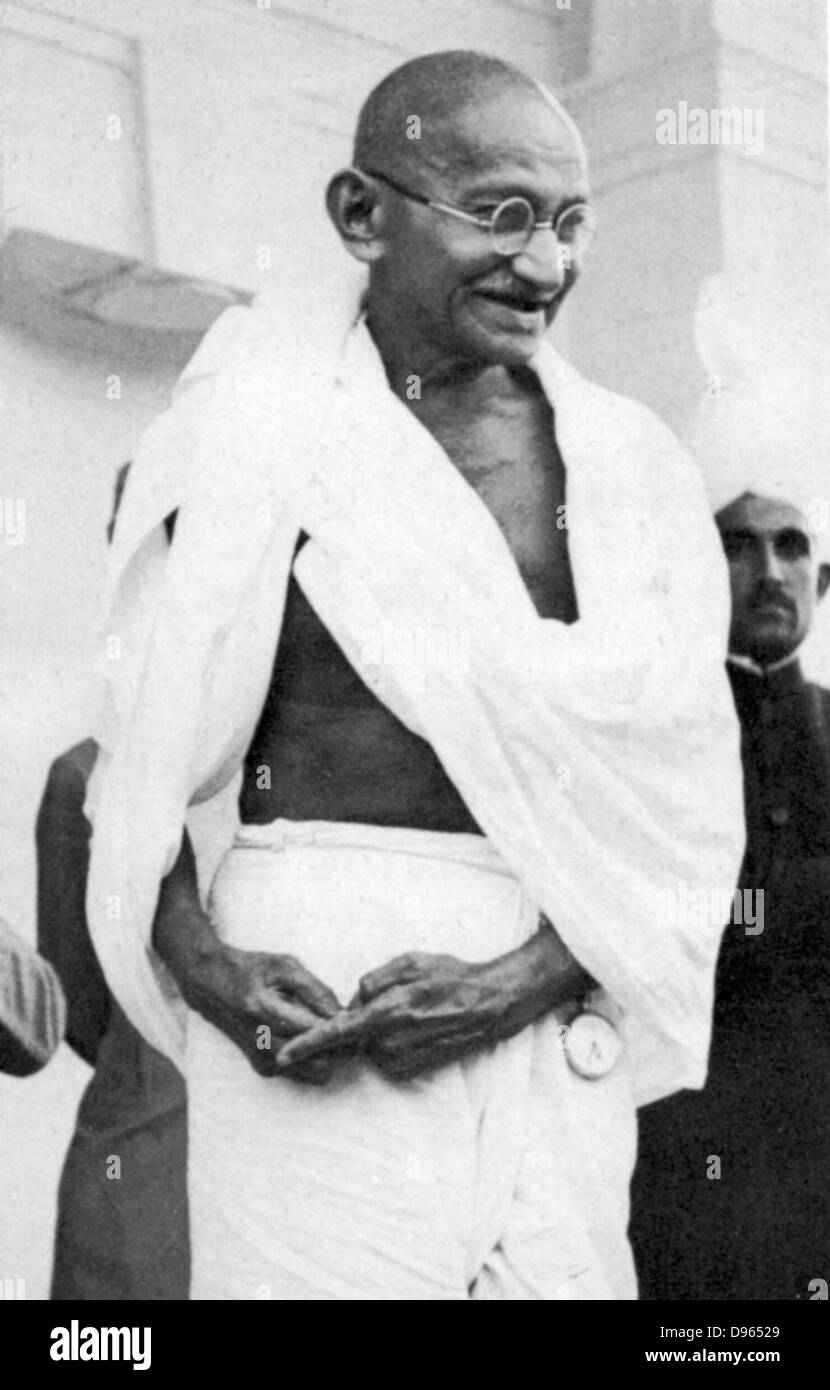 Mohondas Karamchand Gandhi  (1869-1948), known as Mahatma (Great Soul). Indian Nationalist leader. - Stock Image