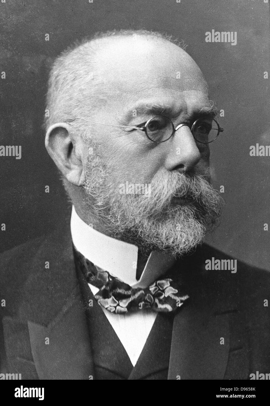 Robert Koch (1843-1910) German bacteriologist and physician. Tubercule bacillus: Tuberculin: Cholera bacillus: Nobel - Stock Image