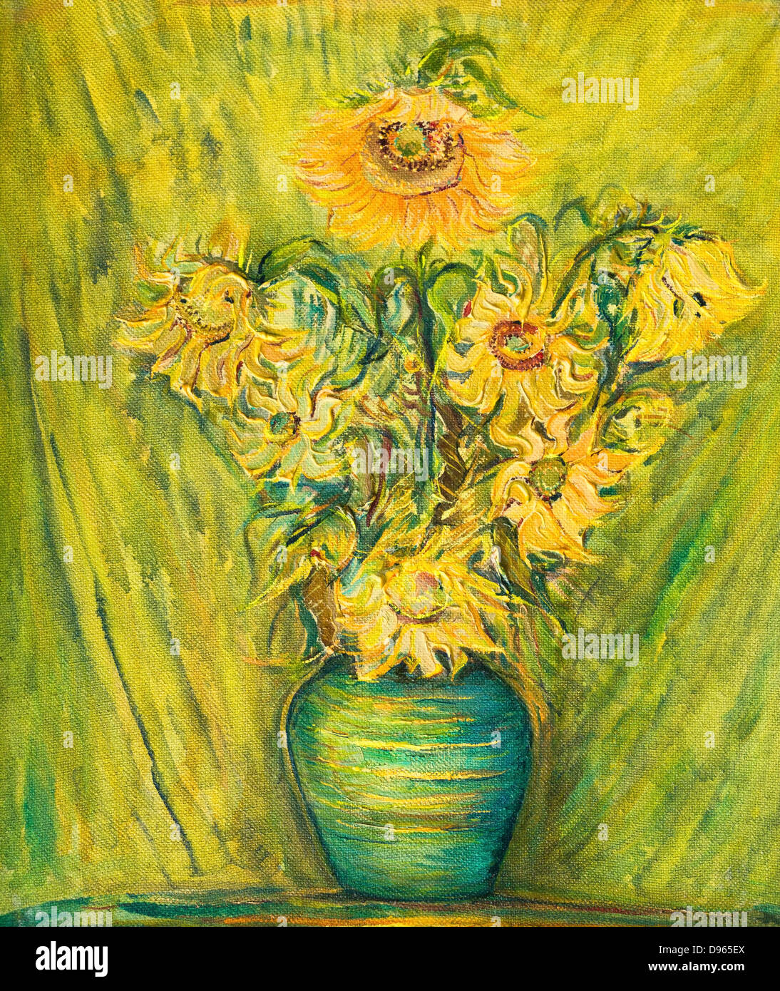 Vase Of Flowers Painting Stock Photos & Vase Of Flowers Painting ...