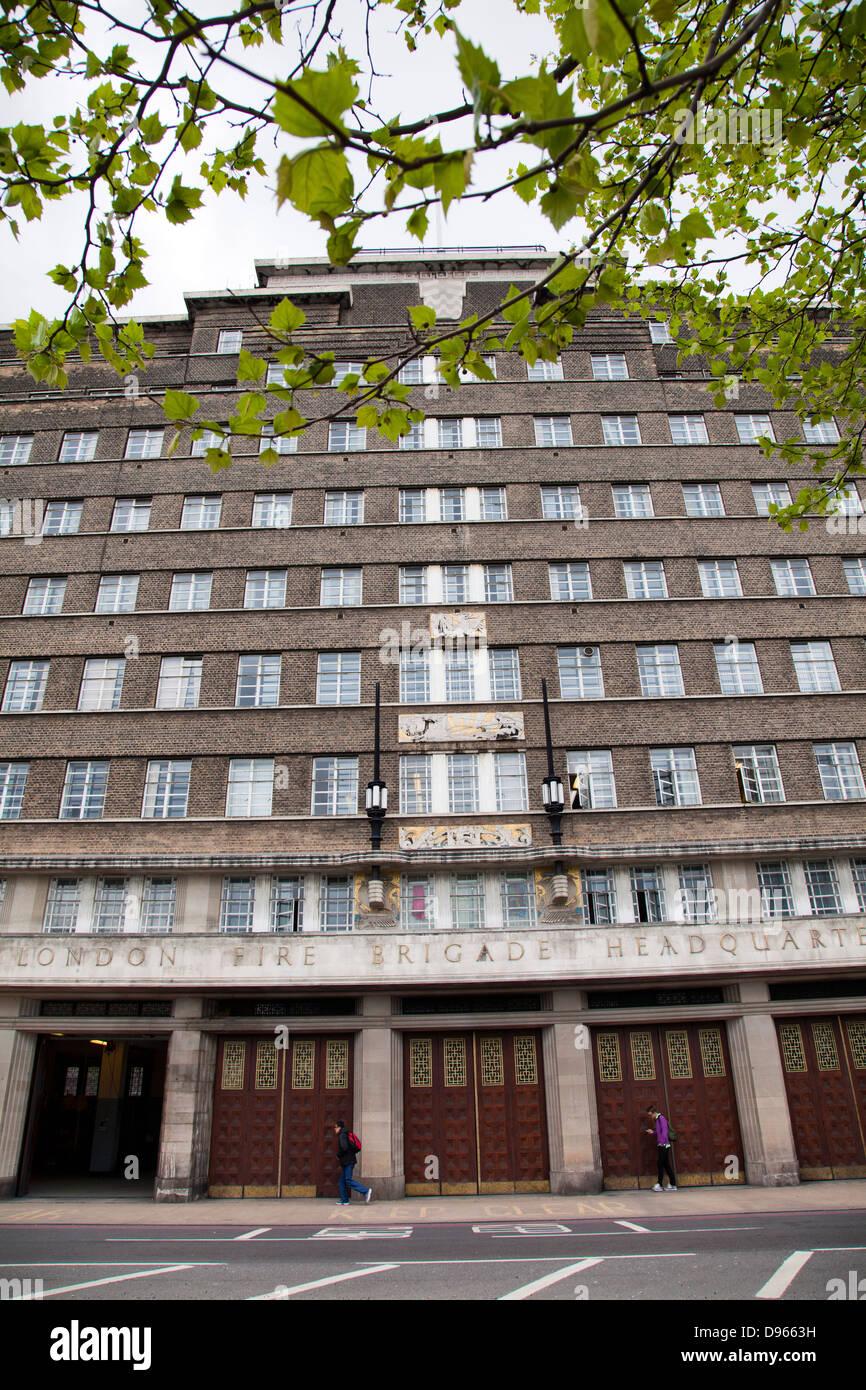 London Fire Brigade Headquarters on Union Street in Southwark - London UK - Stock Image