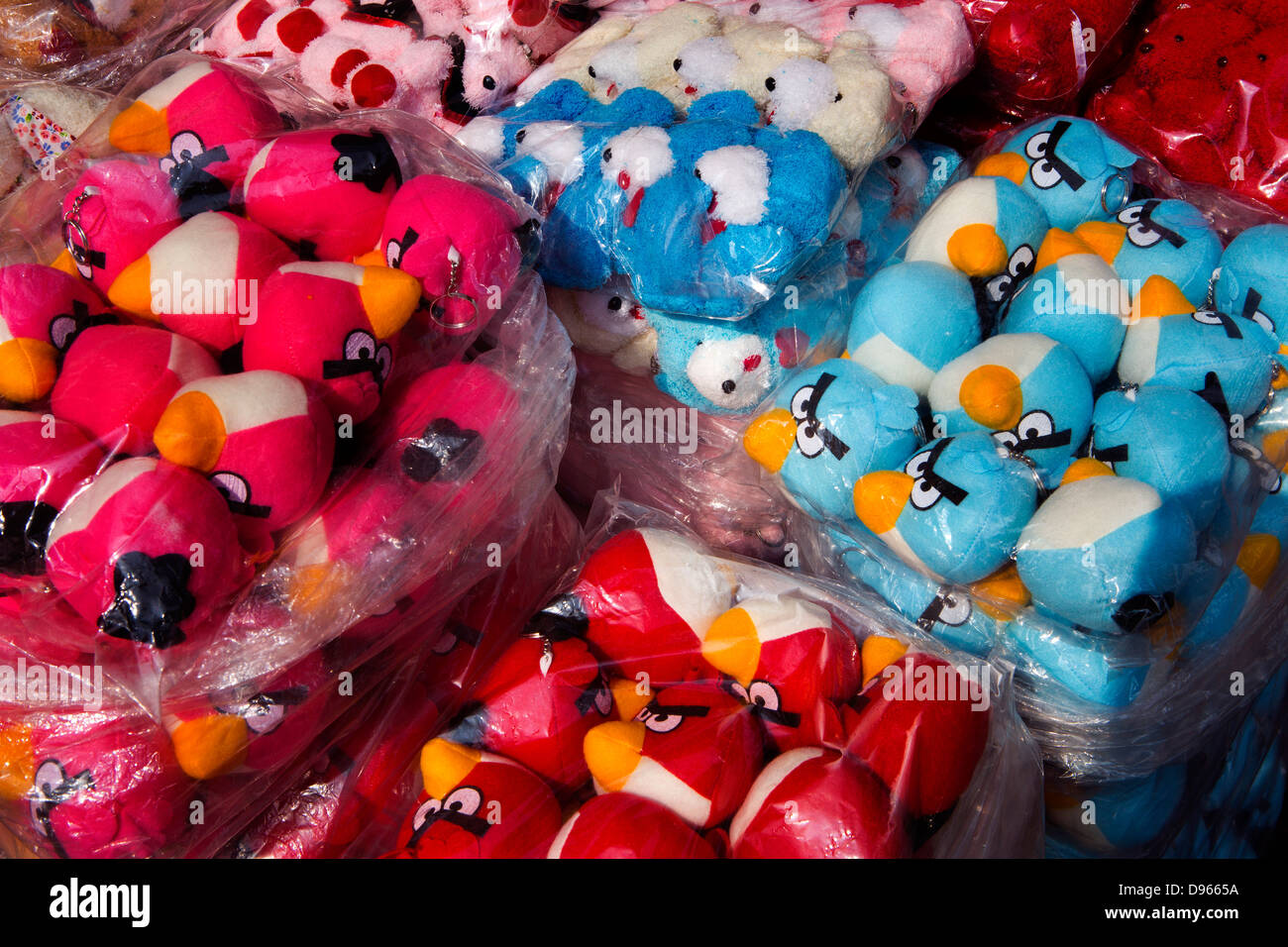Chinatown market, angry birds toys - Stock Image
