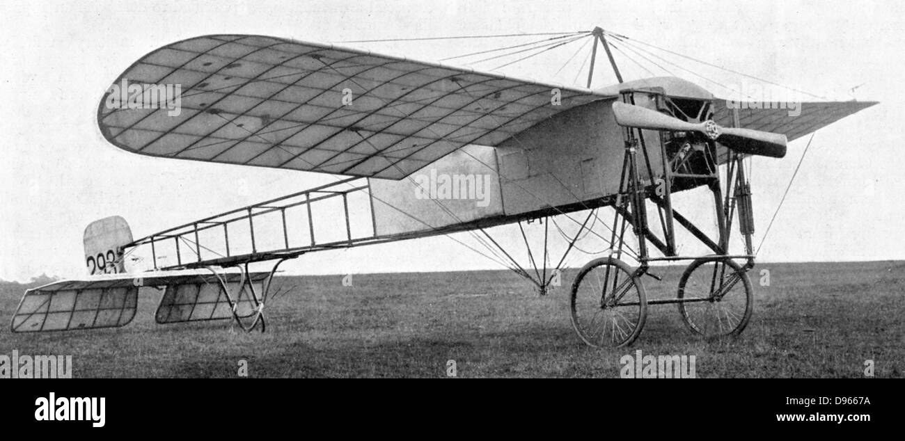 Bleriot monoplane used by the British army: 1914. - Stock Image