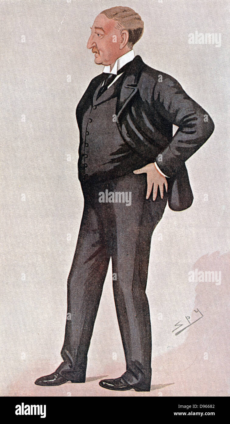 Cecil Rhodes (1853-1902) British-born South African prime minister, empire builder, financier and statesman. South - Stock Image