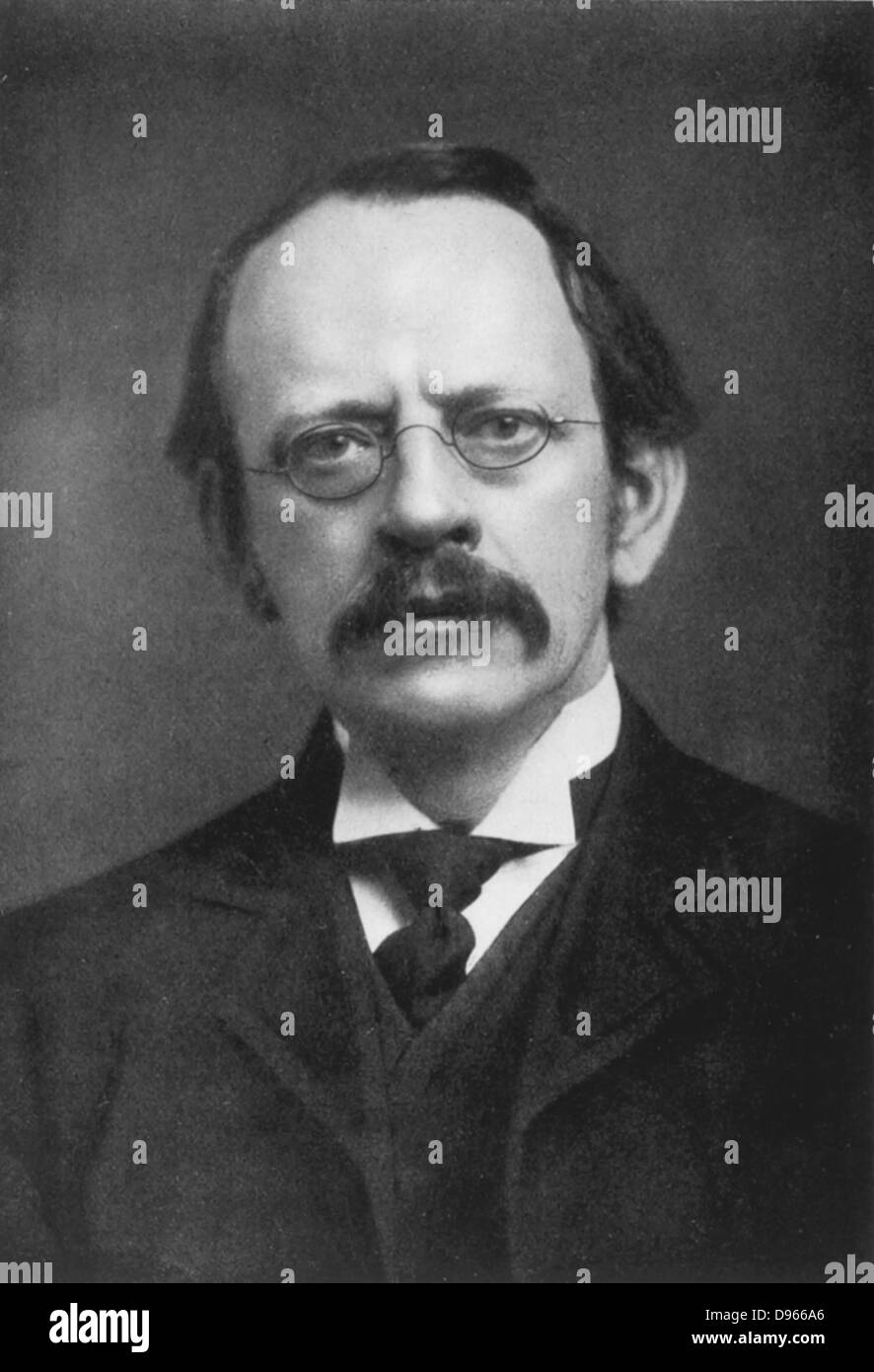 JJ (Joseph John) Thomson (1856-1940) British physicist: discoverer of Electron and pioneer of nuclear physics. From - Stock Image