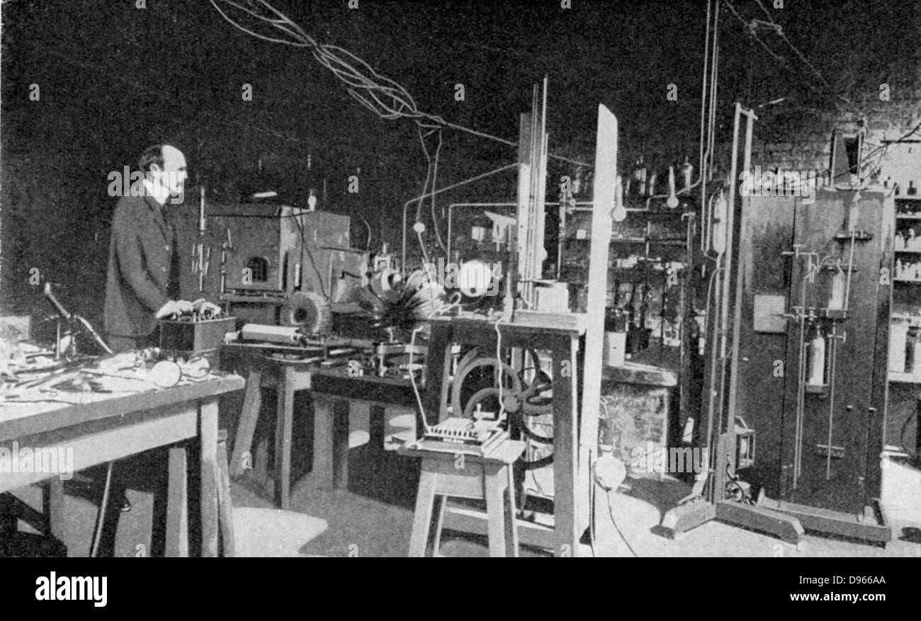 JJ (Joseph John) Thomson (1856-1940) British physicist: discoverer of Electron and pioneer of nuclear physics. Stock Photo