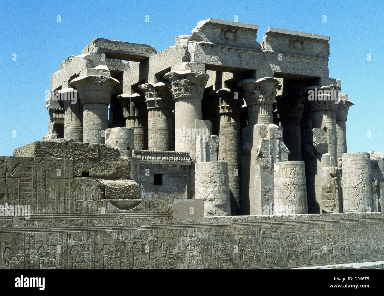 Hellenistic temple at Kawm Umbu (Kom Ombo) Egypt - Stock Image
