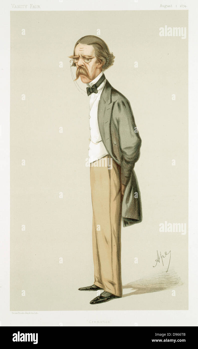 Henry Thompson (1820-1904) cartoon by 'Ape' (Carlo Pellegrini), 'Vanity Fair', London, 1 August - Stock Image