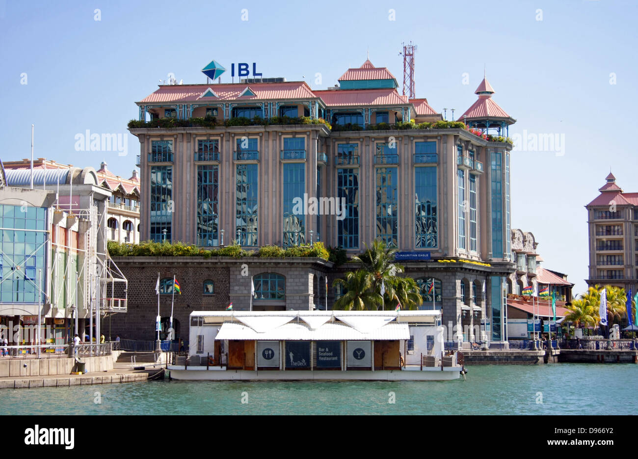 The ibl building on the waterfront harbour area of port - Where is port louis mauritius located ...