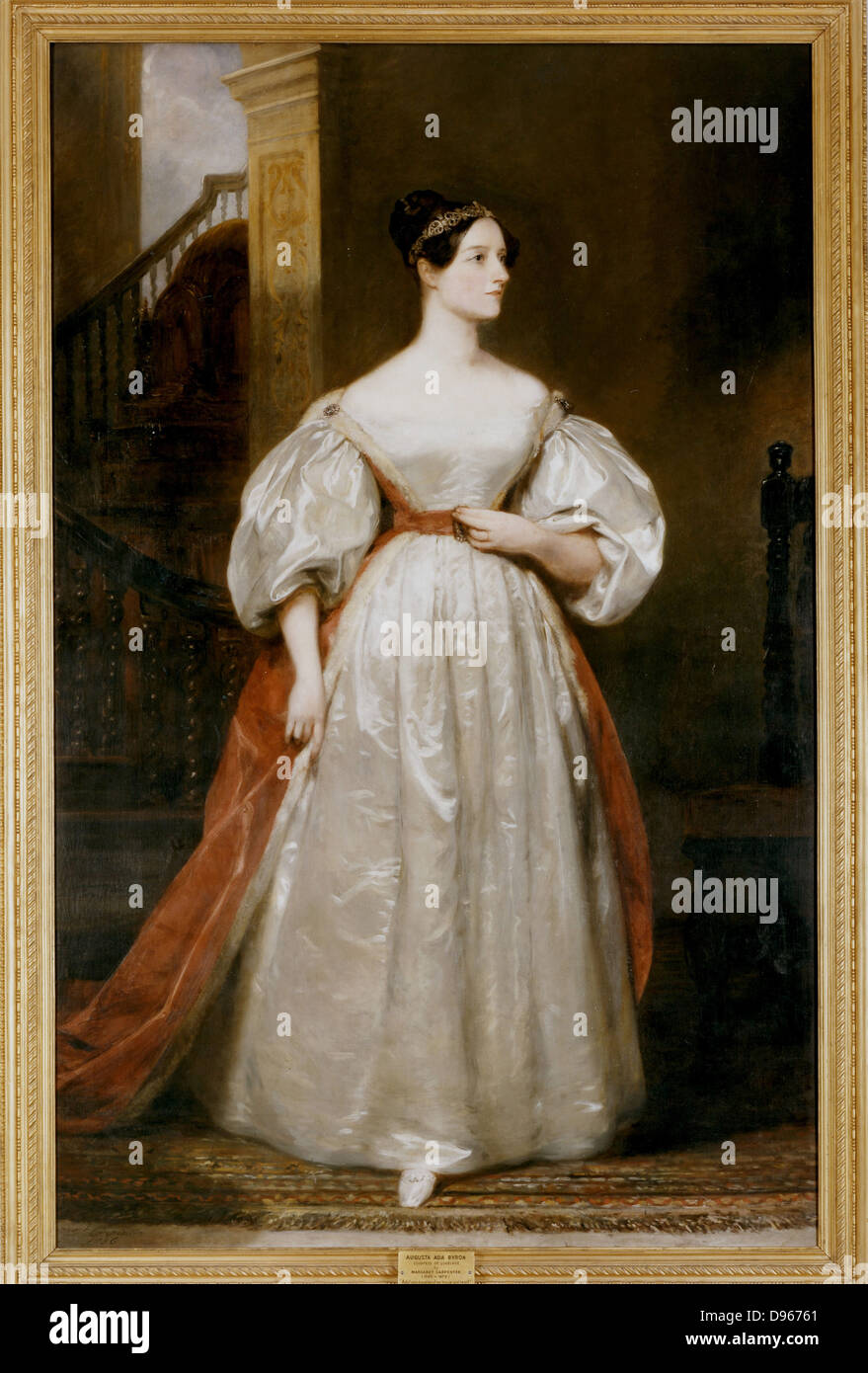 Augusta Ada, Countess Lovelace (1815-1852) English mathematician and writer. Daughter of the poet Byron. Friend - Stock Image