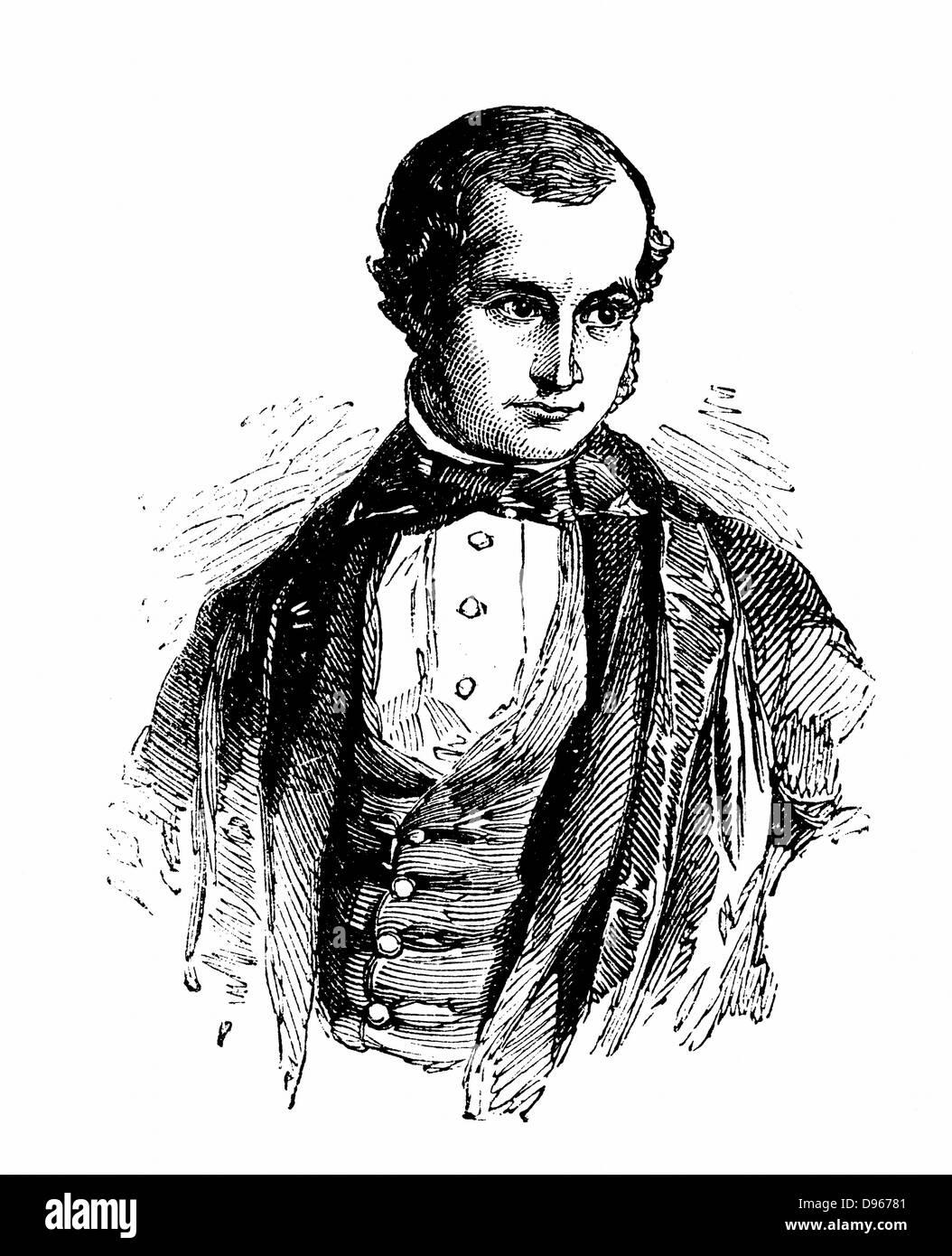 John Couch Adams  (1819-92) English astronomer and mathematician. Senior Wrangler, Cambridge 1843; calculated position - Stock Image