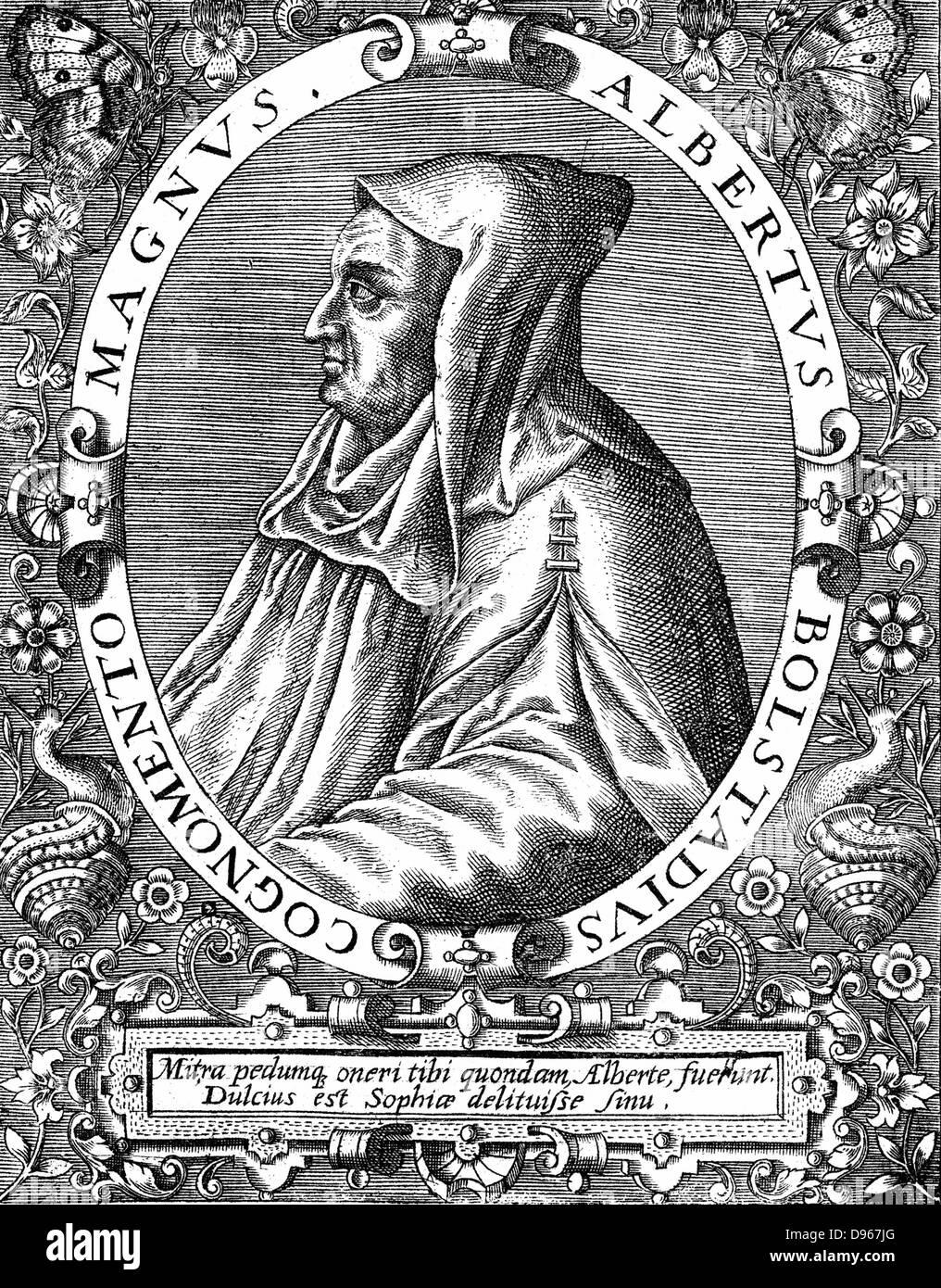Albertus Magnus (c1200-1280) Italian Dominican friar called 'Doctor Universalis'. Bishop of Ratisbon, 1260. - Stock Image