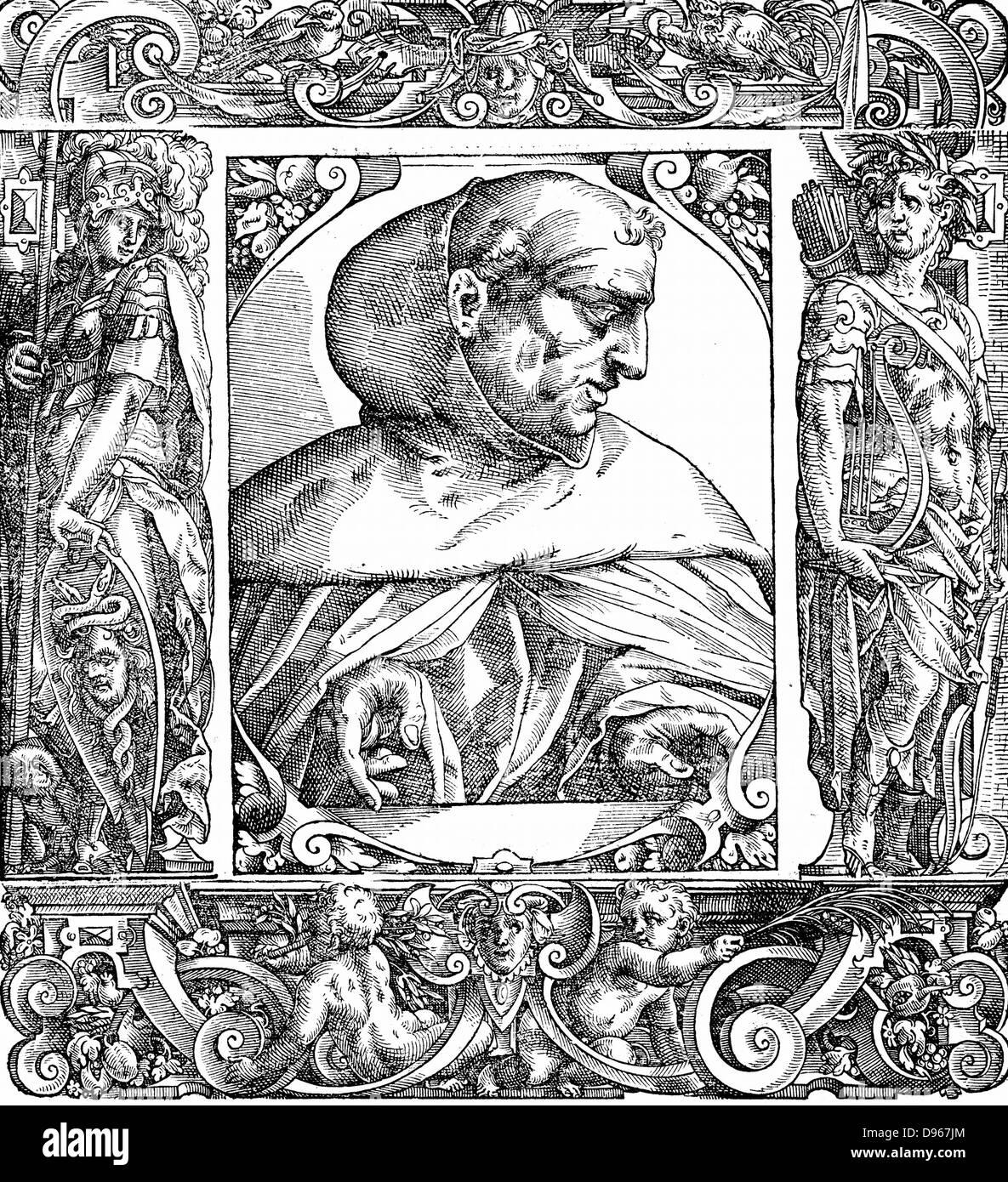 Albertus Magnus (c1200-1280) Italian Dominican friar called 'Doctor Universalis'. Bishop of Ratisbon, 1260. Melded Stock Photo