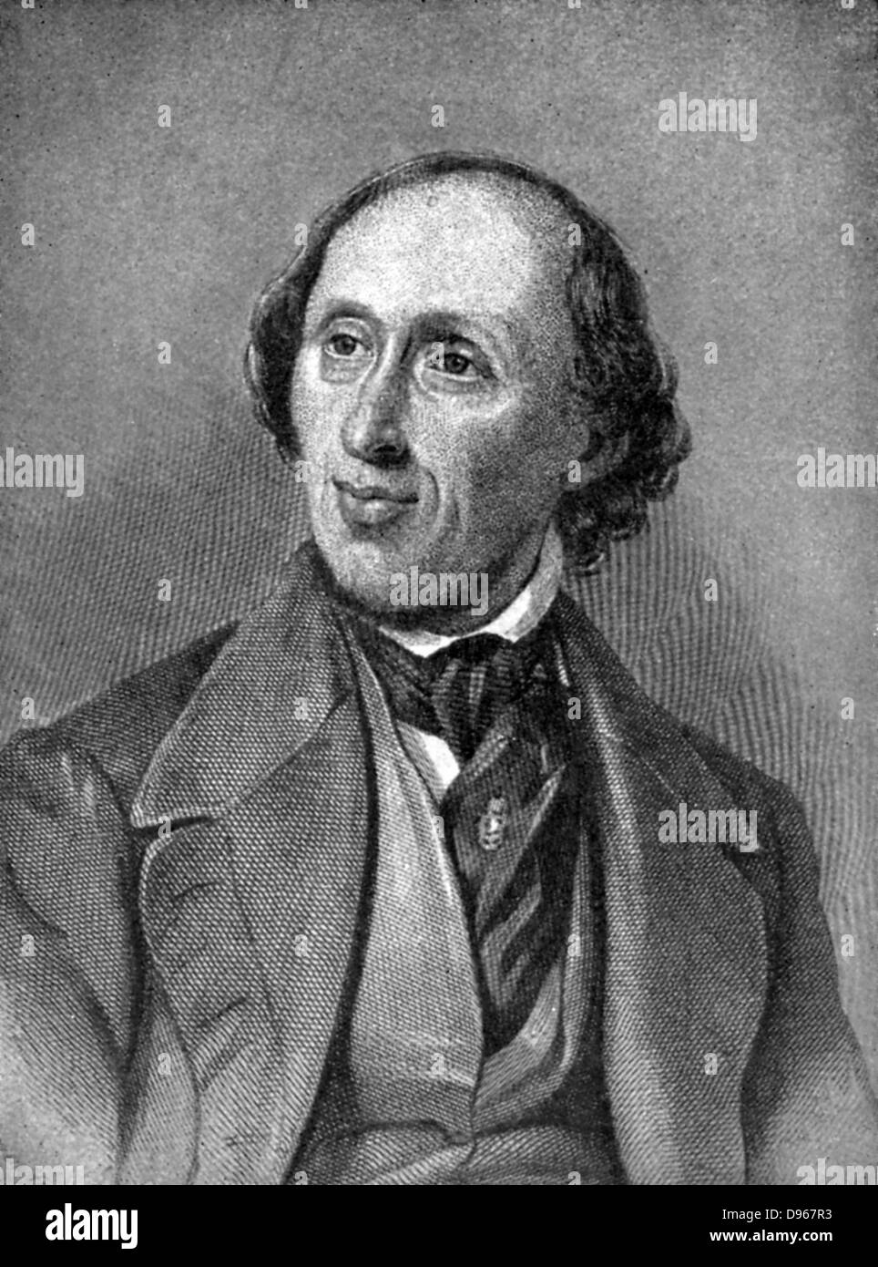 Hans Christian Andersen  (1805-1875) Danish author, particularly remembered for his fairy tales - Stock Image