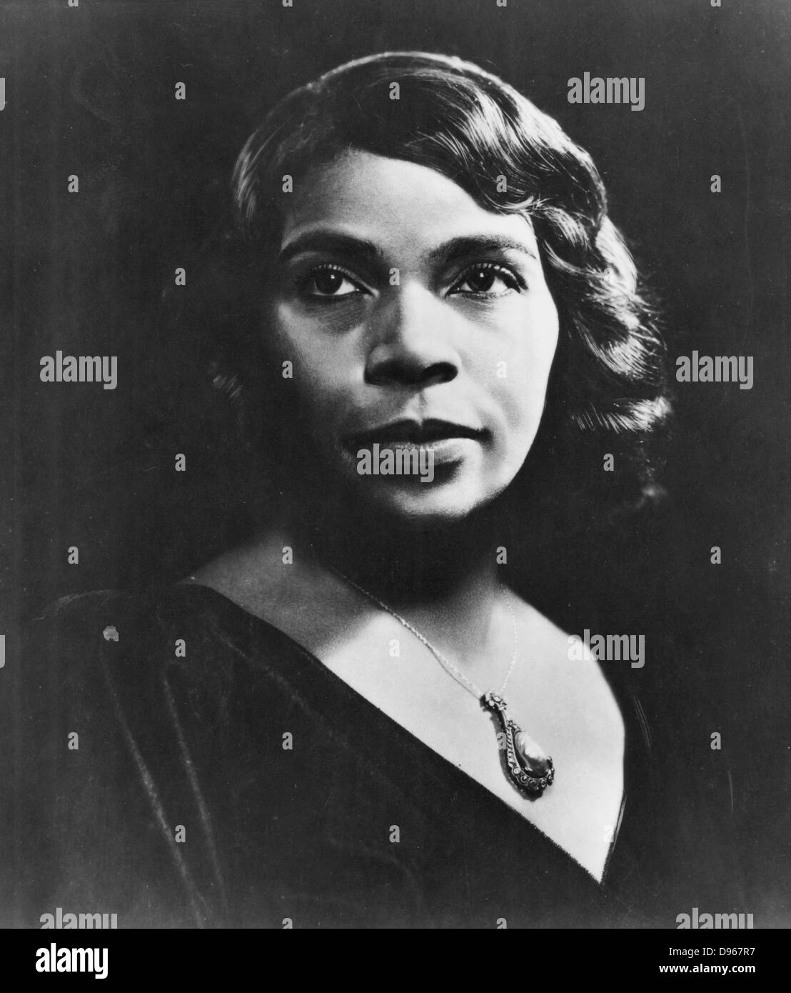 Marian Anderson  (1899-1993) American contralto. First black singer to appear at the Metropolitan Opera, New York - Stock Image