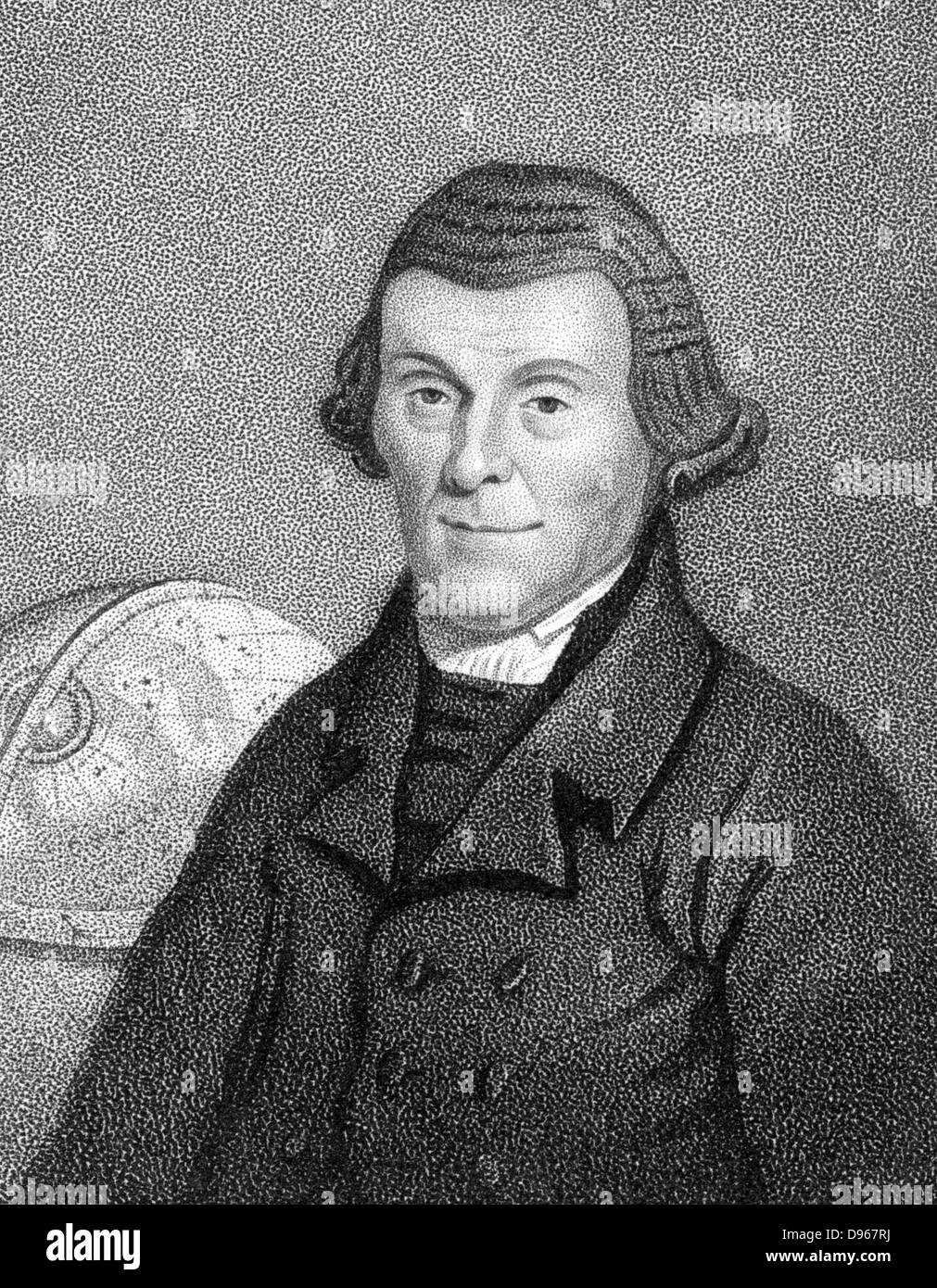 Henry Andrews (1744-1820) English astronomical calculator, schoolmaster, author of 'Moore's Almanack'. - Stock Image