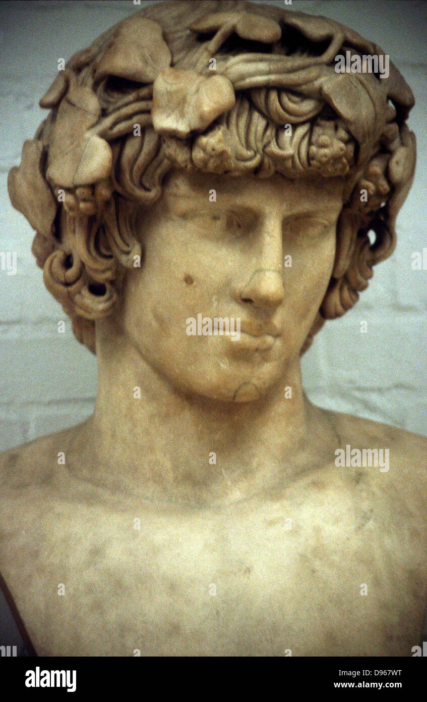Antinous (d122) Bithynian youth, favourite and companion of the Ancient Roman emperor Hadrian. Drowned in the Nile. - Stock Image