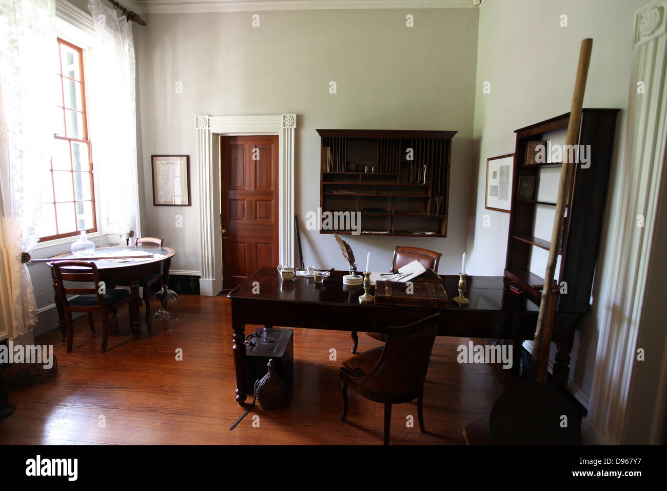 Office In Oak Alley Plantation House Of The Sugarcane Plantation Owner  Jacques Telesphore Roman
