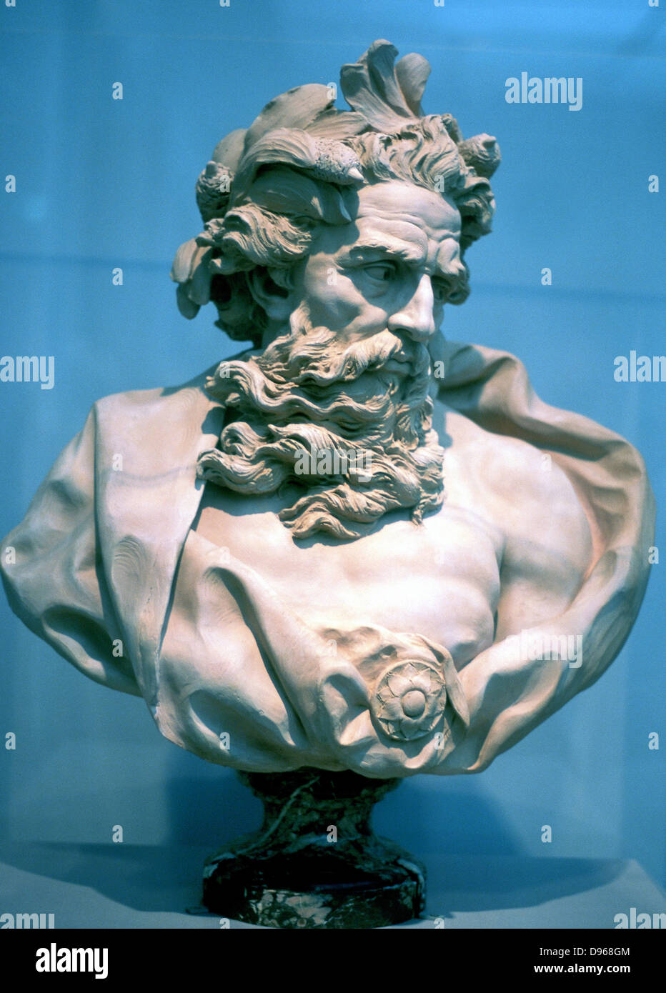 Neptune, god of the oceans. From an antique bust - Stock Image