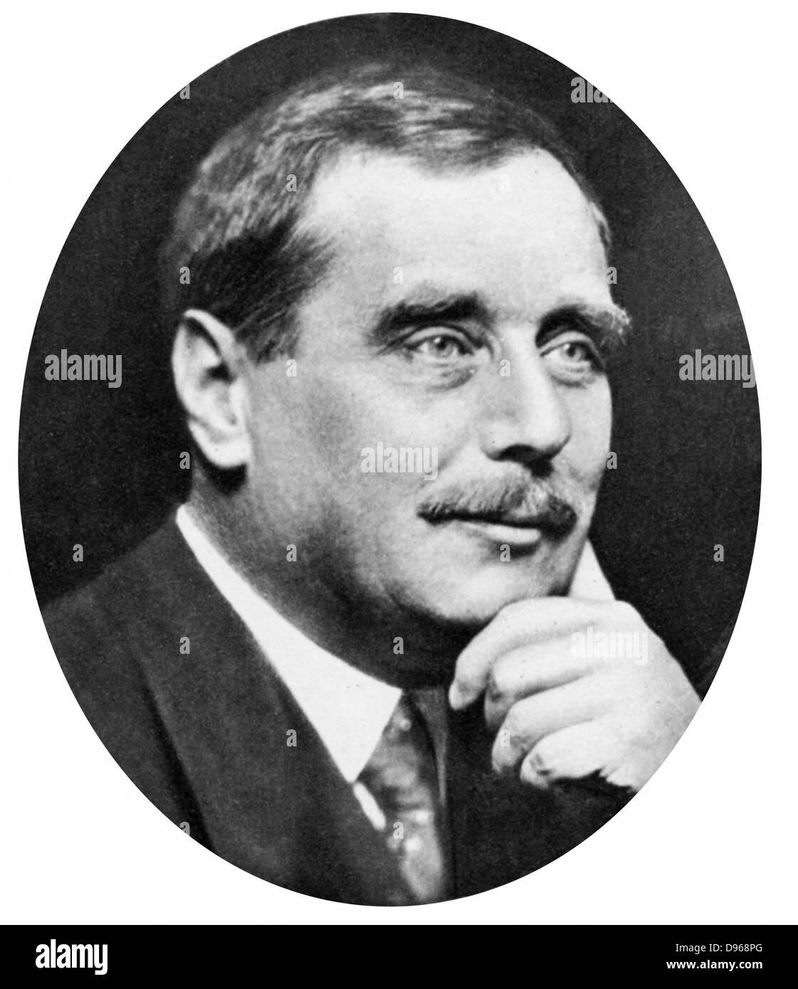 Herbert George Wells (1865-1946) British novelist, writer and popular historian. HG Wells c1925. - Stock Image