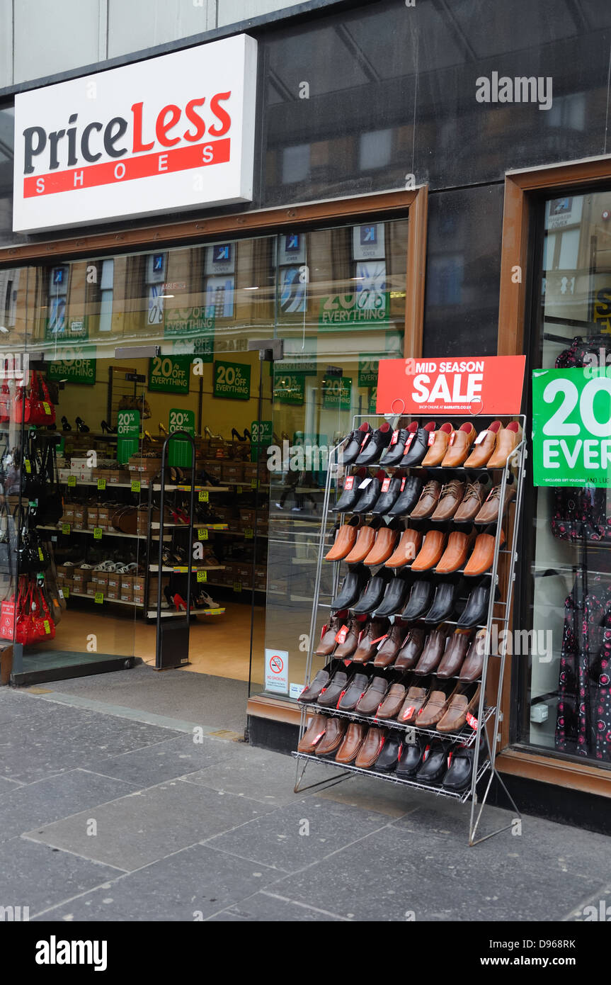 Shoe shop mid season sale - Stock Image