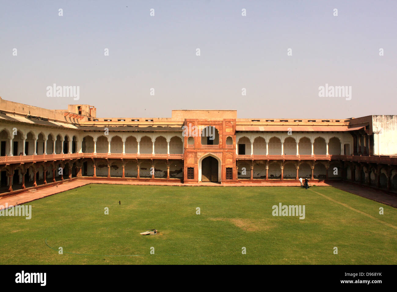 Courtyard made by shah jahan in Agra fort , UNESCO World Heritage site Agra, Uttar Pradesh, India Stock Photo