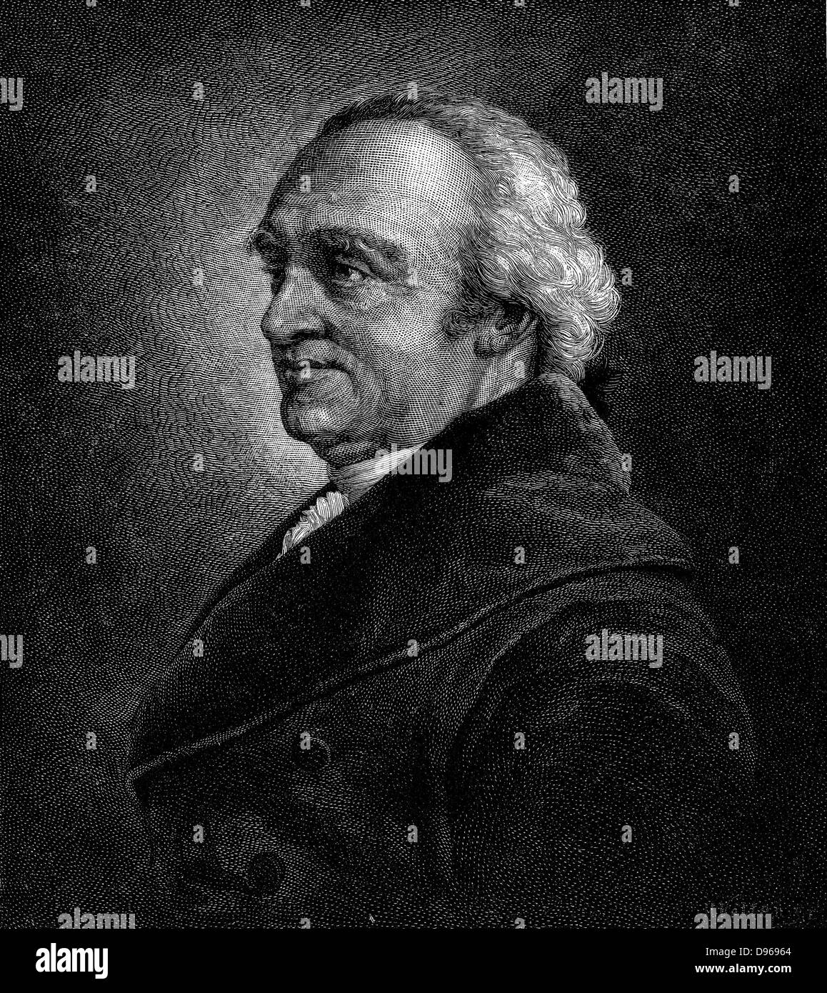 William Herschel (1738-1822) German-born English astronomer: Discovered first new planet since ancient times, Uranus. - Stock Image
