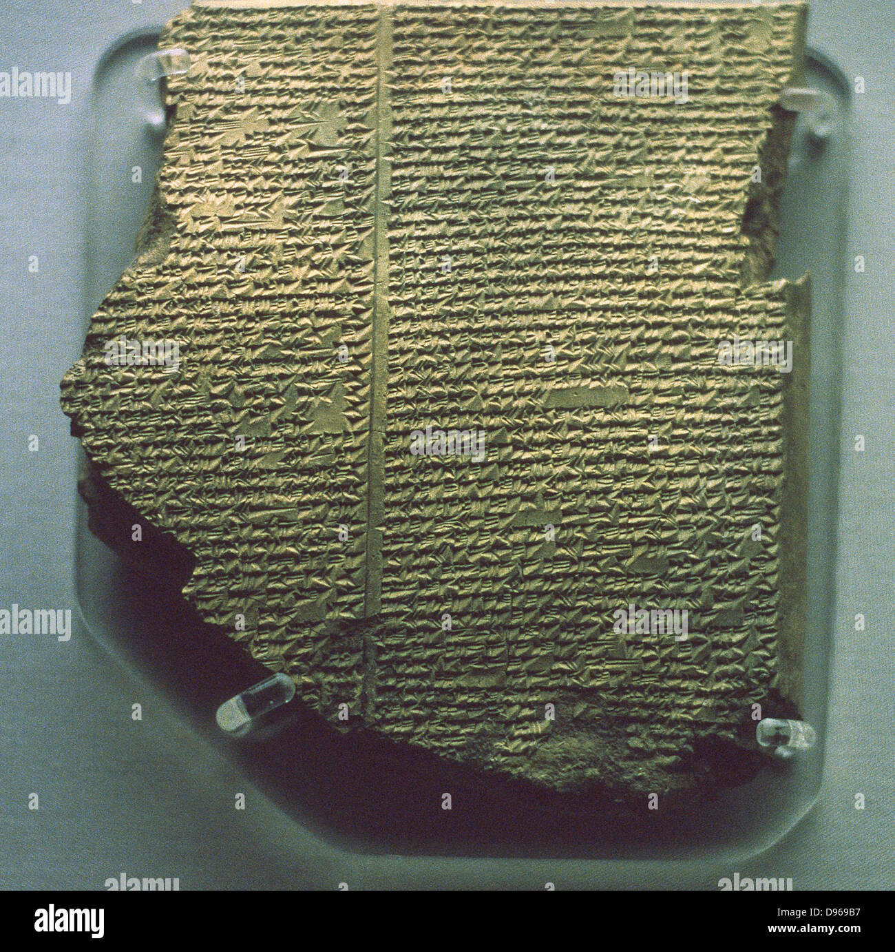Cuneiform tablet with Gilgamesh Flood Epic. Babylonian, c17th century BC. Southern Iraq. British Museum - Stock Image