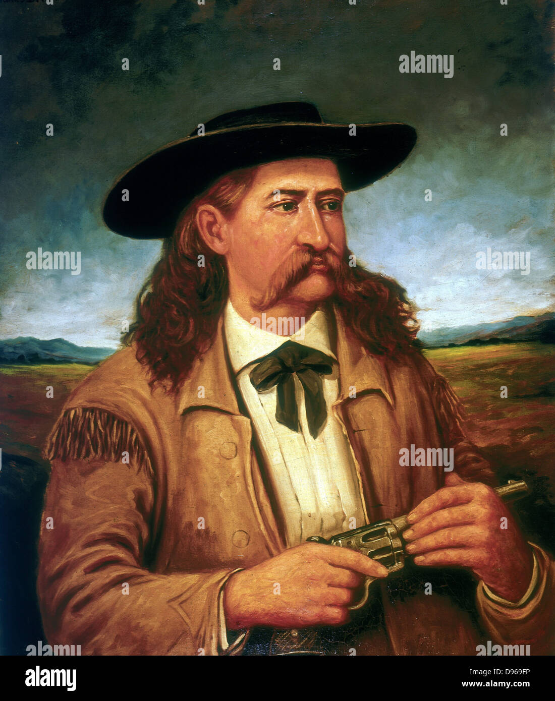 James Butler 'Wild Bill' Hickock (1837-1876) American scout and lawman. Painting from life by Henry H Cross - Stock Image