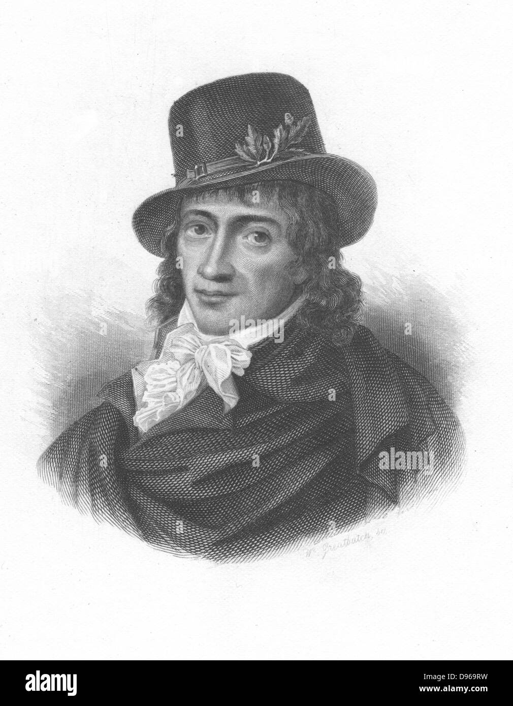 Camille Desmoulins (1760-94) French journalist and revolutionary. Writings in favour of clemency displeased Robespierre. - Stock Image