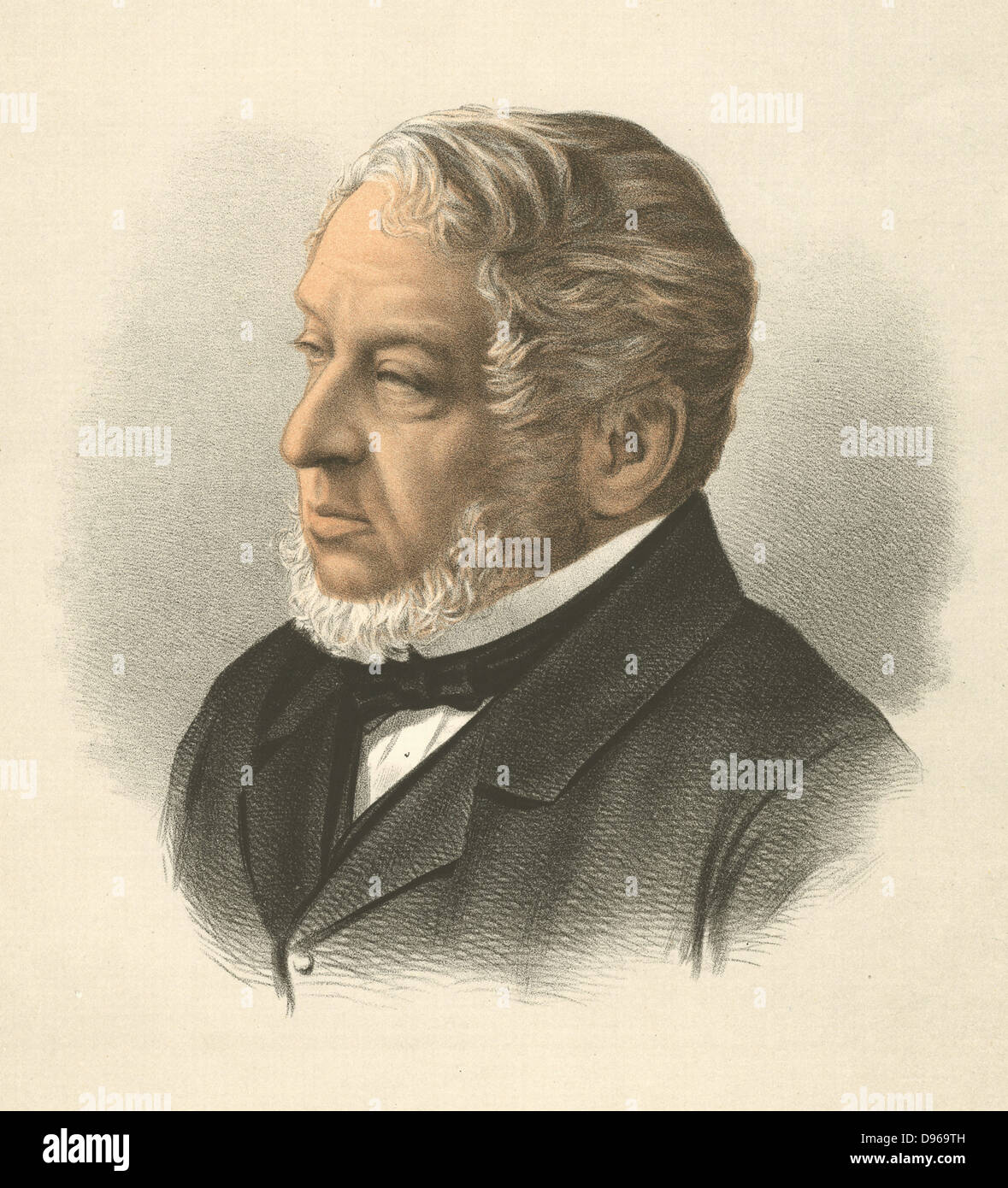 Lionel Nathan de Rothschild (1808-79) British Banker. MP for city of London. Original of Sidonia in Disraeli's - Stock Image