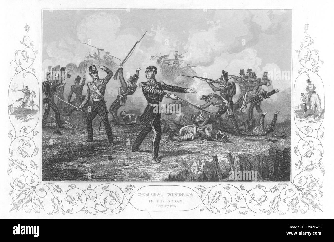 Russo-Turkish  (Crimean) War 1853-1856. Siege of Sebastopol, October 1854 to September 1855. General Charles Ash - Stock Image