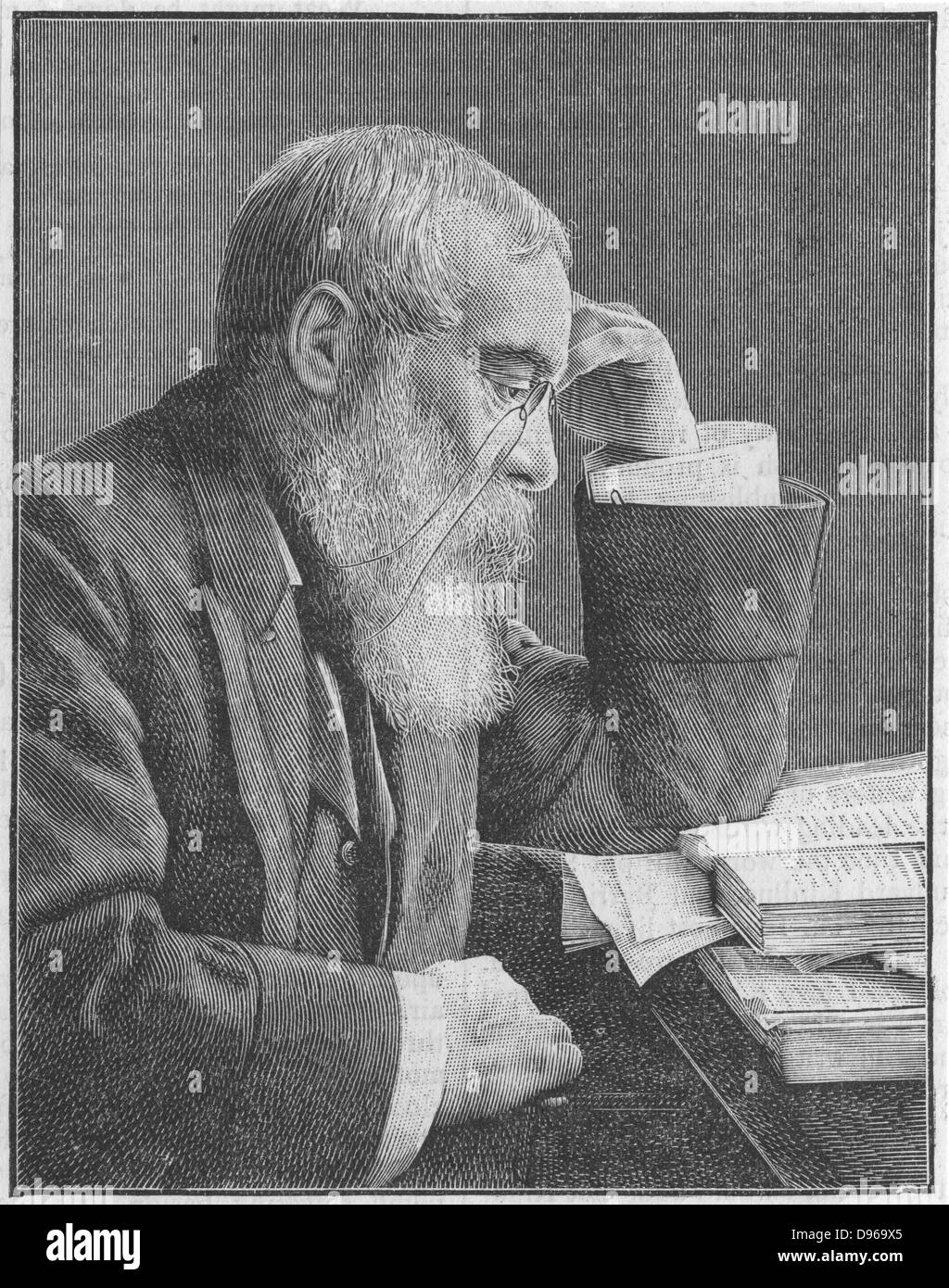 Walter Besant (1836-1901) English social reformer, novelist and editor. First chairman of the Society of Authors - Stock Image