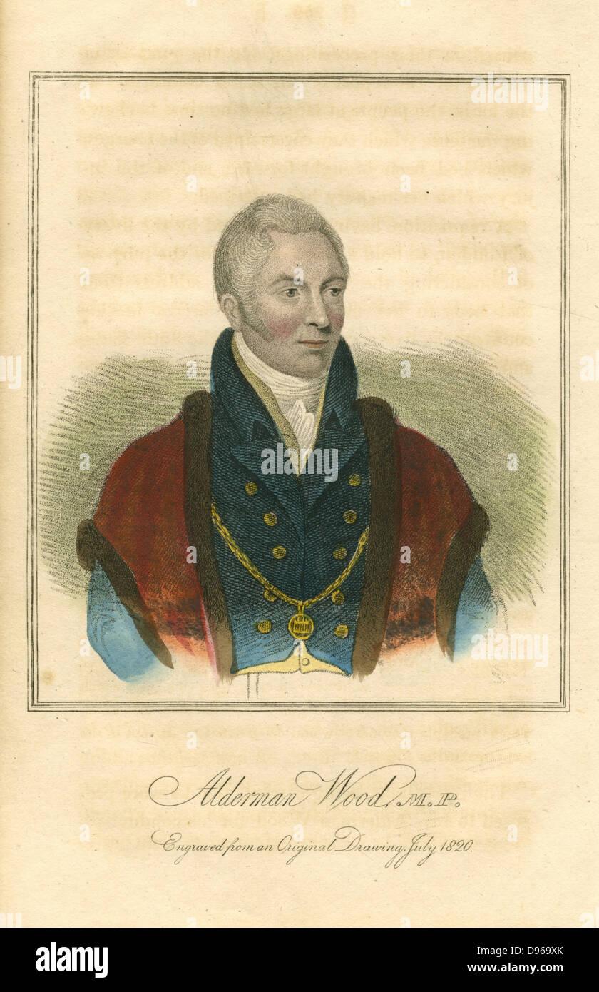 Matthew Wood (1768-1843) English political and municipal reformer. Serge manufacturer, Lord Mayor of London, friend - Stock Image