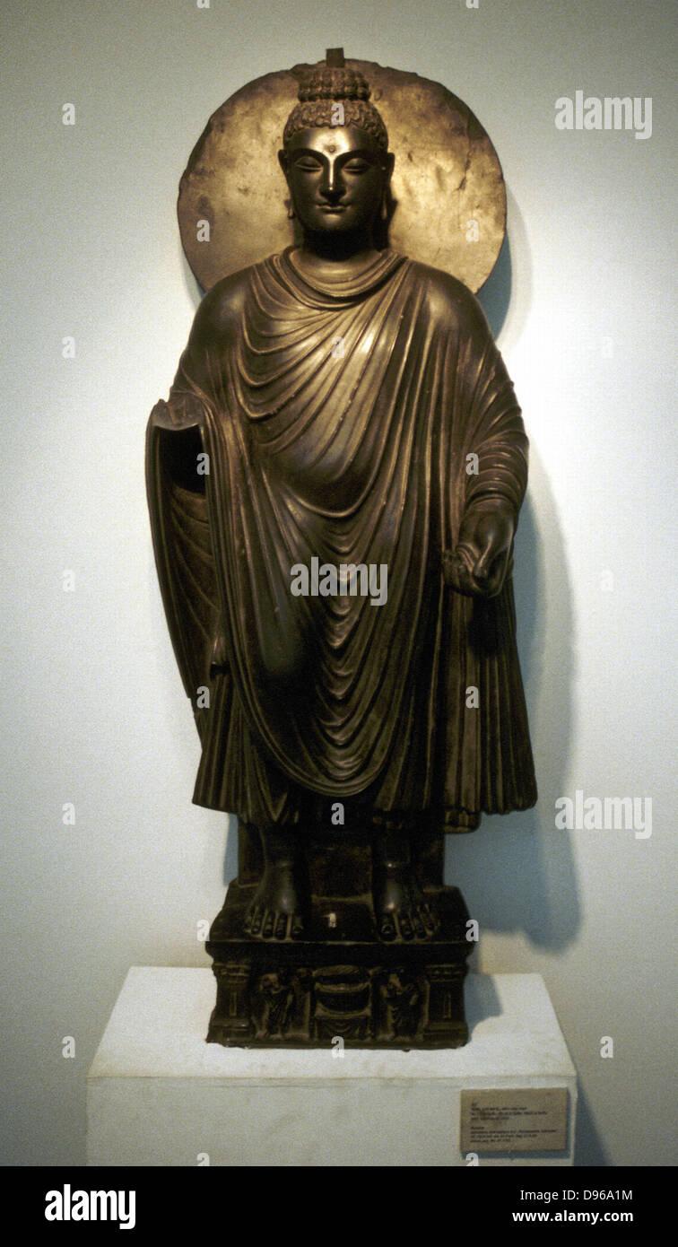 Buddha Stone Statue From Gandhara 2nd Century Ad Delhi Museum Stock Photo Alamy