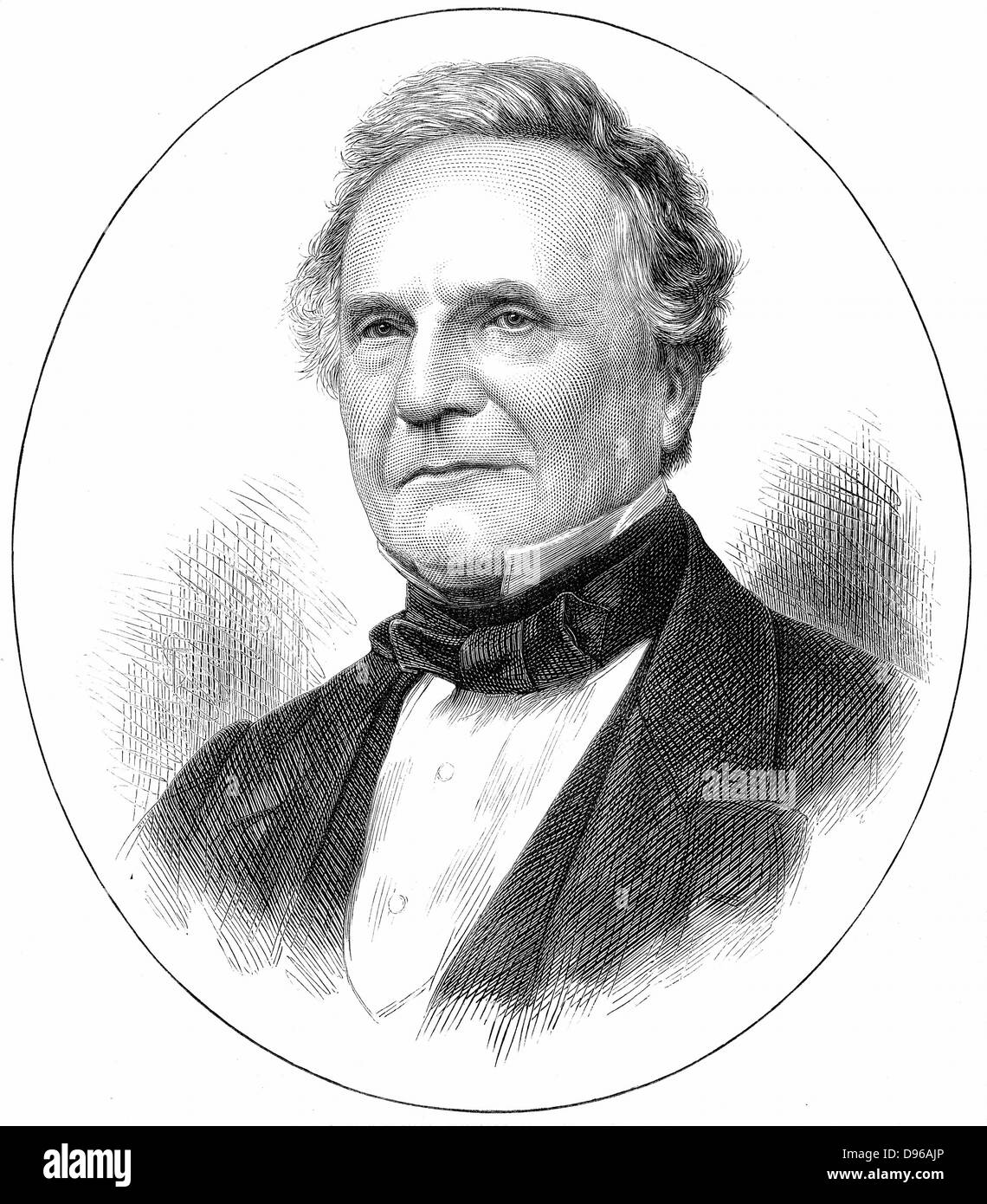 Charles Babbage (1791-1871) English mathematician. Difference engine for calculation of log tables, and Analytical - Stock Image