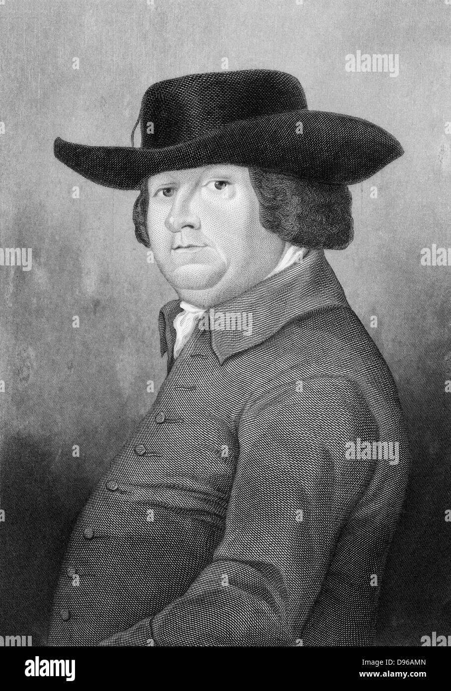 Robert Bakewell (1725-1795) English agriculturist. Improved sheep and cattle by selective breeding, particularly - Stock Image