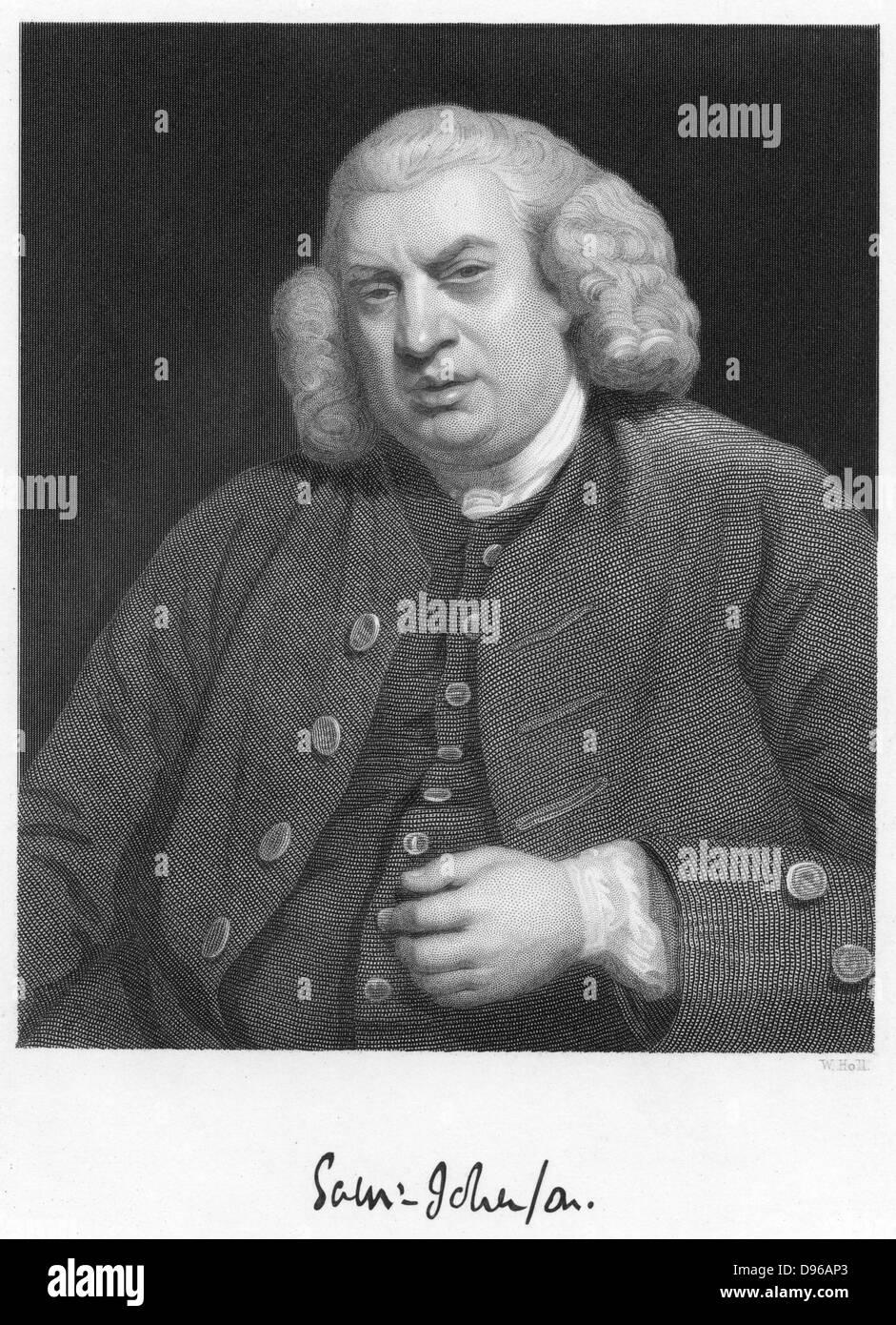 Samuel Johnson (1709-1784)  English author and lexicographer. - Stock Image