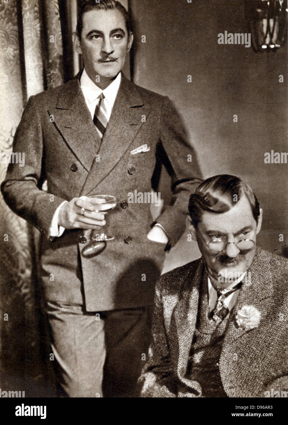 John (1882-1942) and Lionel (1878-1954) Barrymore; American stage and screen actors; brothers of Ethel Barrymore - Stock Image
